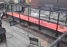 Fabrication of platforms and stair-railing