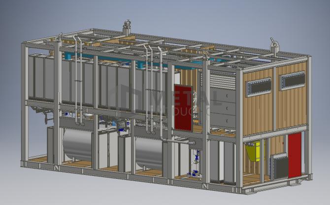 Laive montuojama konteinerinė garo katilinė (su dviem elektriniais garo generatoriais)